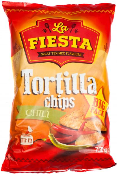 La Fiesta Tortilla Chips Chili, 750g